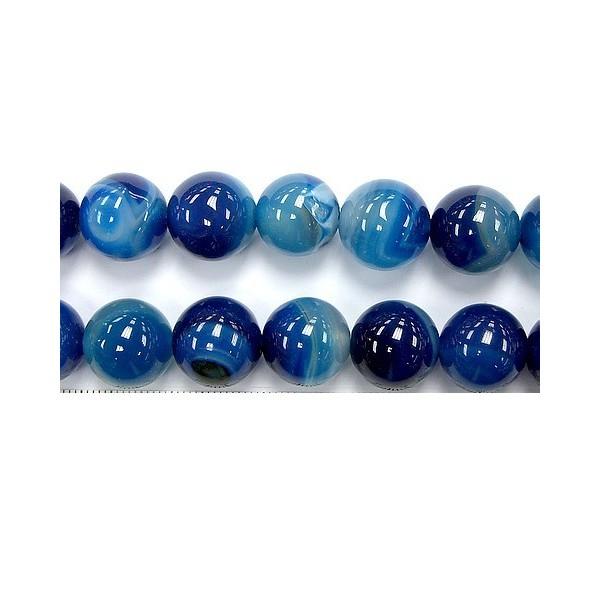 Perles agate bleue