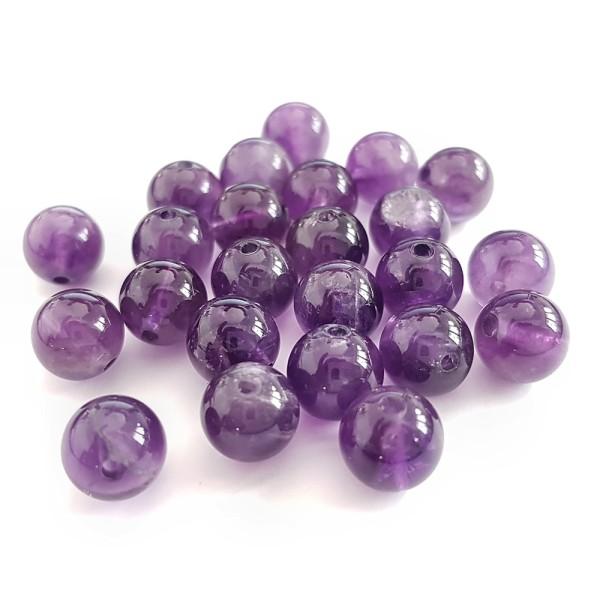 Perles améthyste