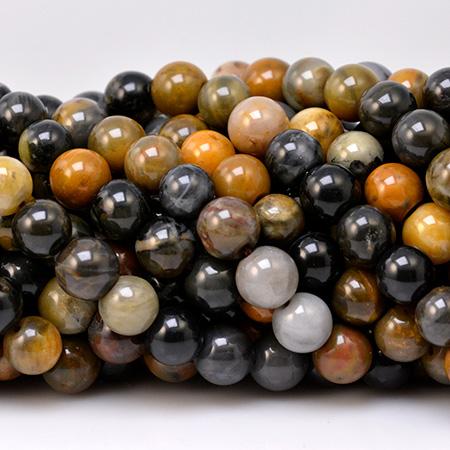 Perles de bois fossile