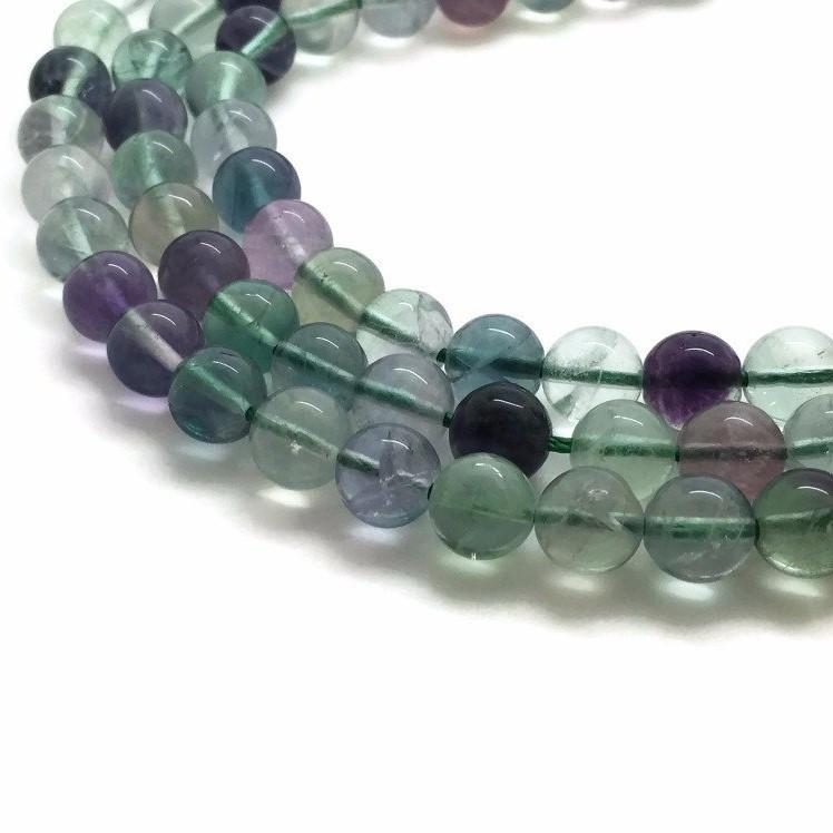 Perles de fluorite
