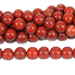 Perles de jaspe rouge