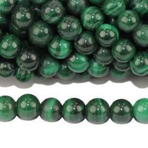 Perles de malachite