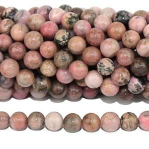 Perles de rhodonite